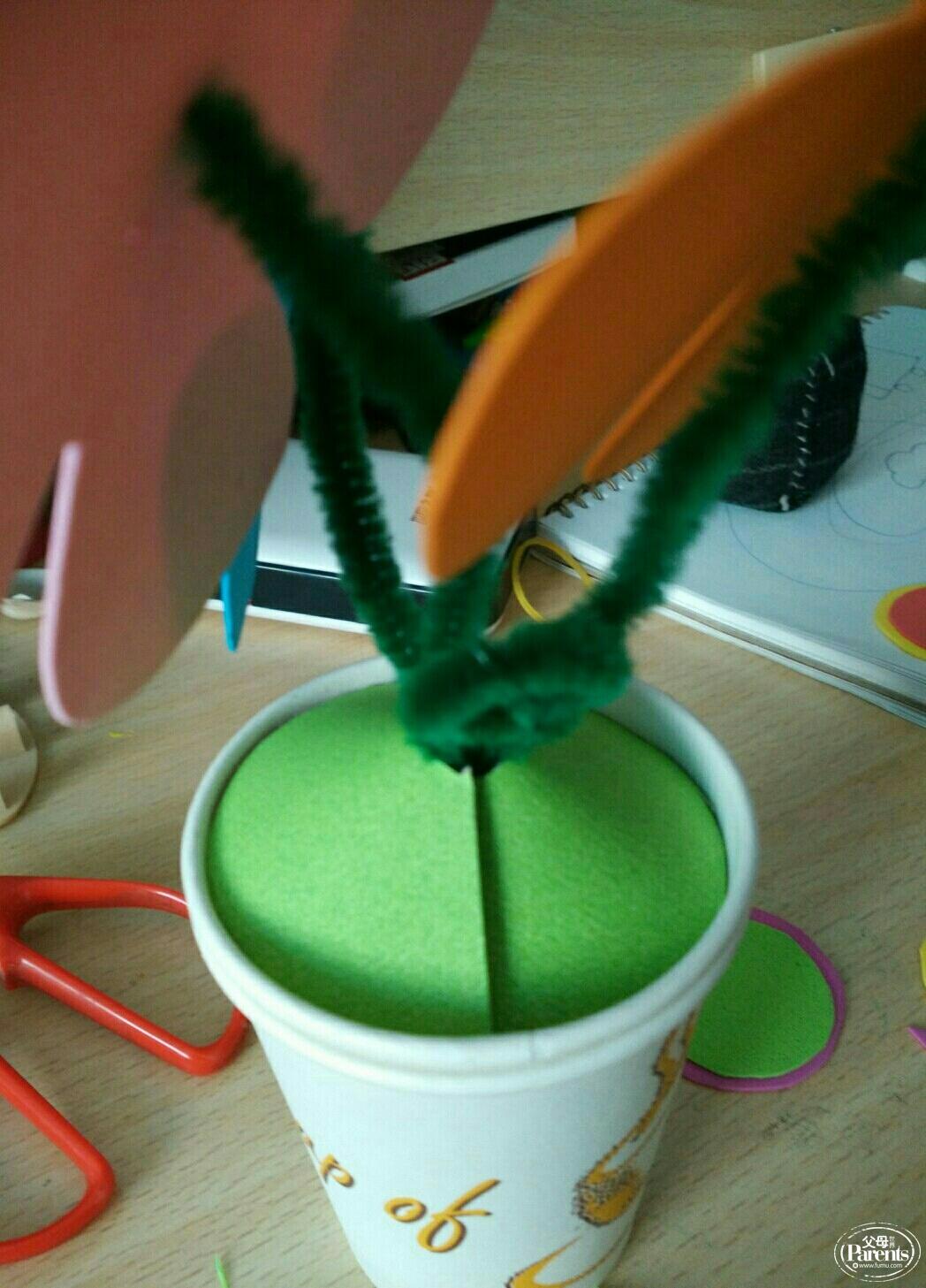 幼儿园纸杯制作盆景简单