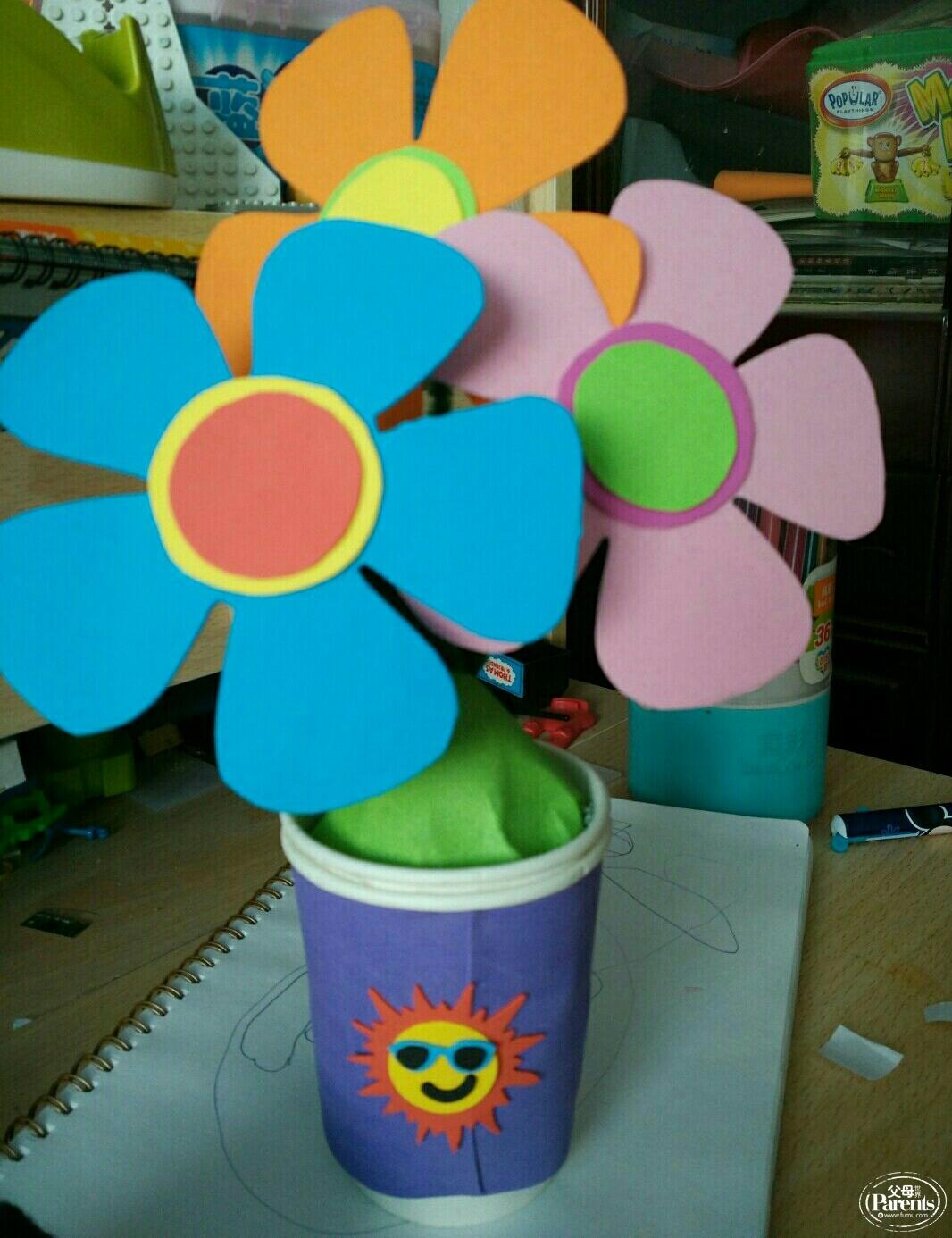 海绵纸手工制作花朵