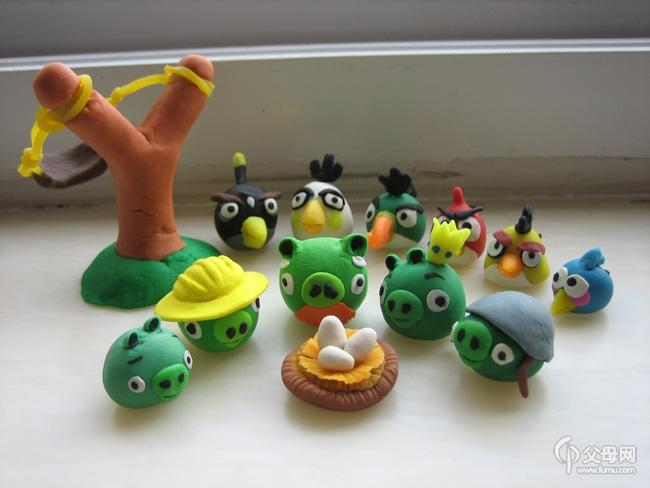 【我爱diy】橡皮泥作品集2--愤怒的小鸟系列