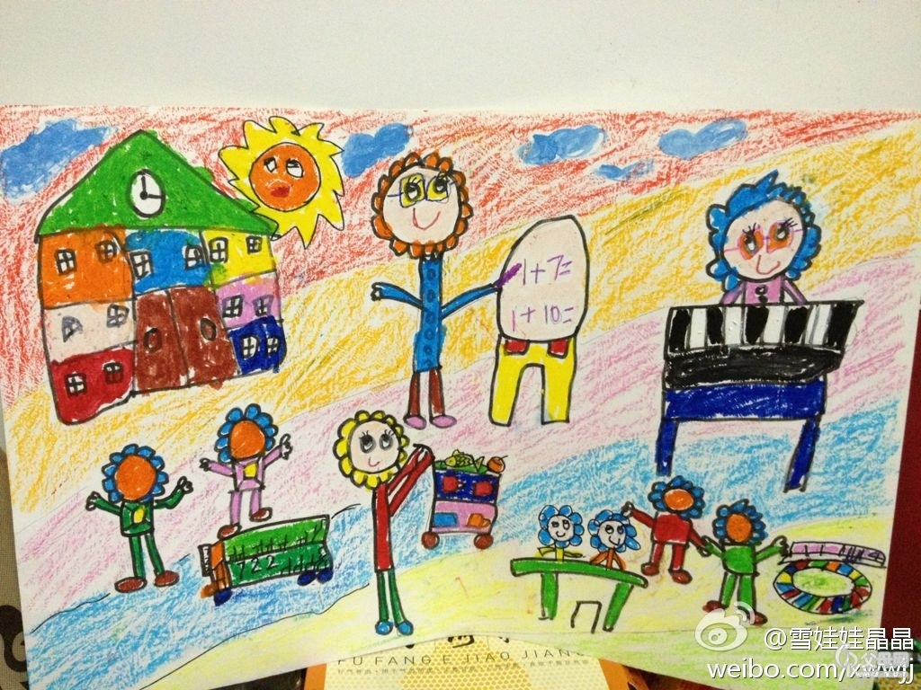圆圆幼儿园主题画-成长ing