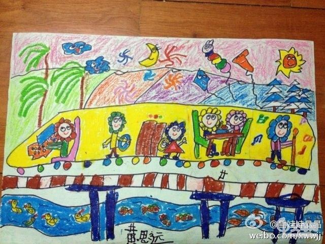 圆圆幼儿园主题画--成长ing