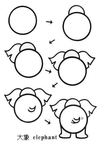 小班幼儿简笔画 动物