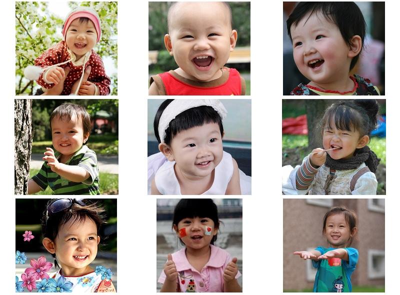 征集宝宝笑脸图片,由父母网综合评选出60个宝贝笑脸