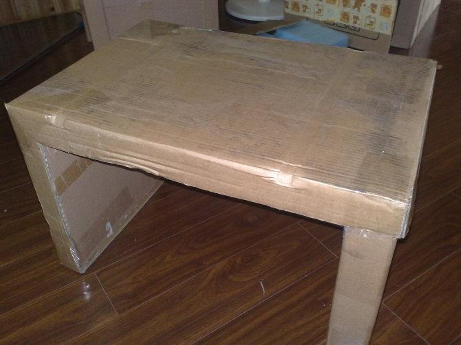 纸盒手工制作餐桌
