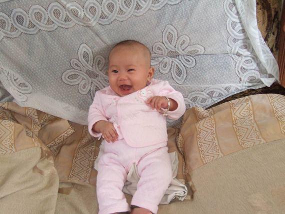 【可爱宝宝发型秀】小妮子的小子头