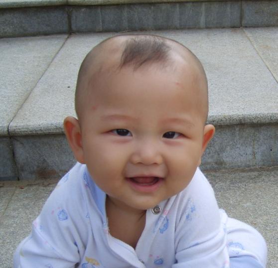 男宝宝可爱发型大全; 五个月宝宝头型; 不同年龄的发型look高清图片
