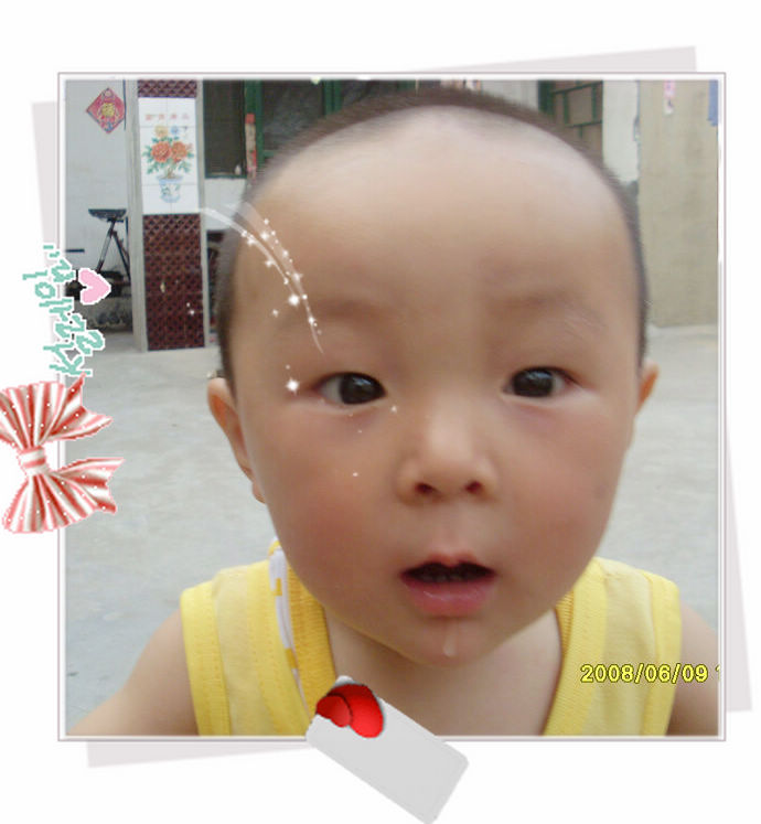宝宝剪平头步骤图解