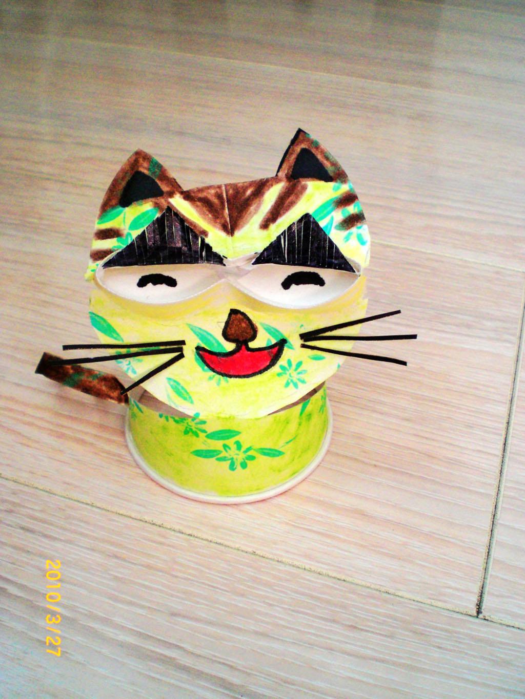 纸杯小动物手工制作猫