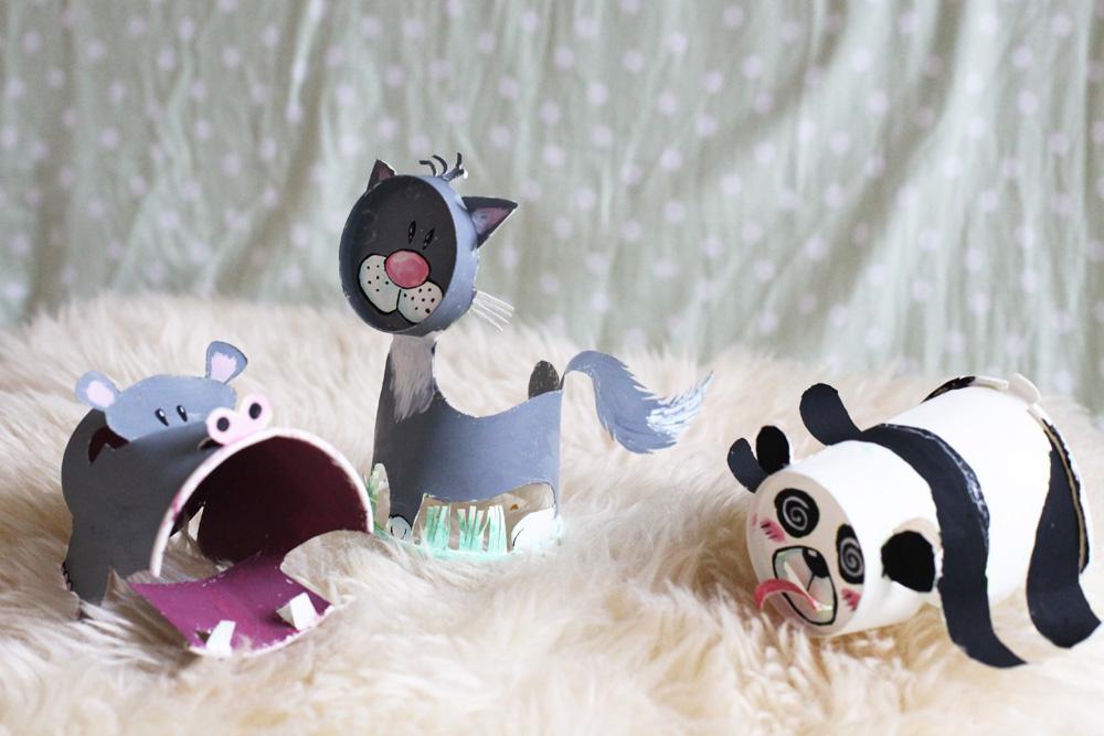 纸杯制作小动物熊猫