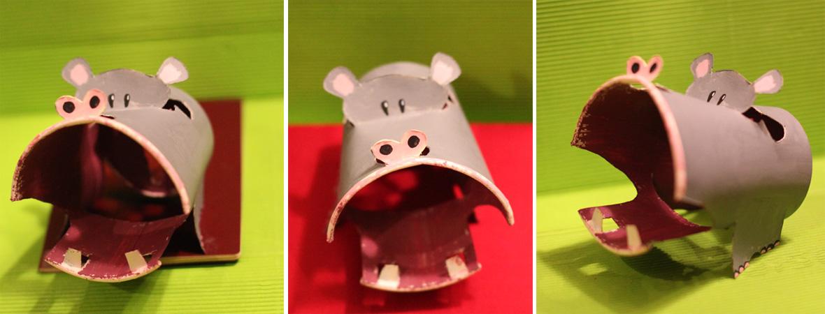 【快乐的纸杯世界】河马,熊猫,猫(图都不小,点击就可以放大看)