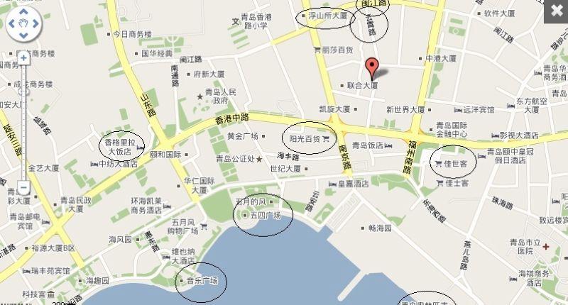 """市内的著名风景点""""燕岛秋潮""""位于基地内燕儿岛山的"""